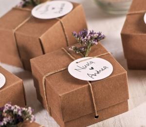 Boîte kraft pour les mariages