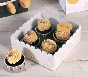 Boîte transparente pour 4 cupcakes