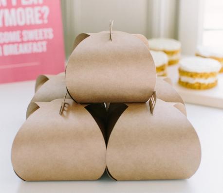 Cajita para tartas o pasteles individuales