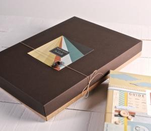 Boîte décorée pour albums photo
