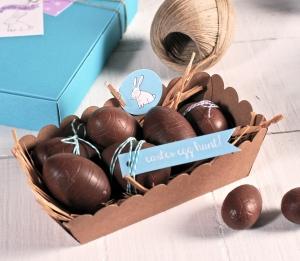 Barquette en carton pour œufs en chocolat