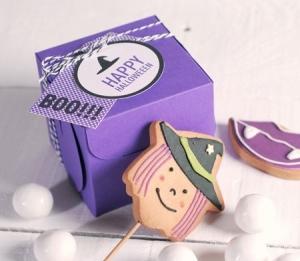 Boîte d'Halloween pour un Cupcake