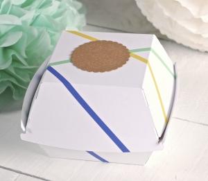 Boîte de hamburgers décorée