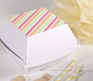 Boîte pour Hamburgers avec Washi Tape