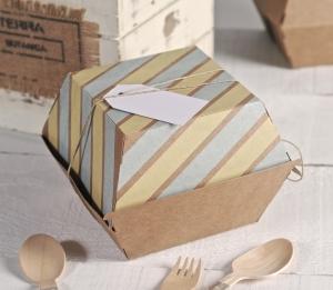 Burgers boîte décorée avec des bandes washi
