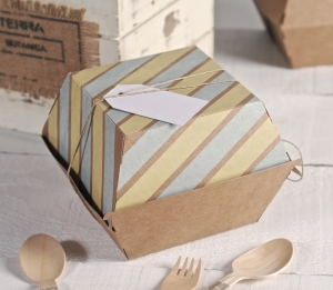 Caja de hamburguesas decorada con washi tapes