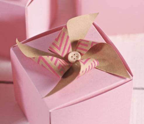 Coffret cadeau décoré avec moulin