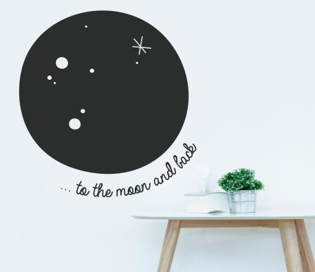Lune murale en vinyle