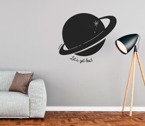 Sticker muraux avec planète