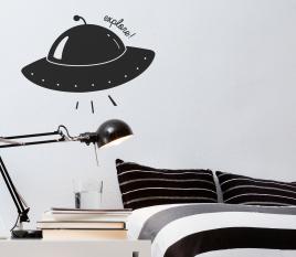 Vinyle vaisseau spatial pour enfant