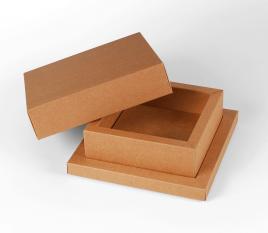 Boîte carrée bac-couvercle