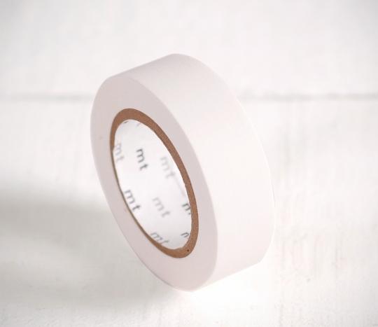 Washi tape blanc mat