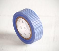 Washi tape de carrés bleus