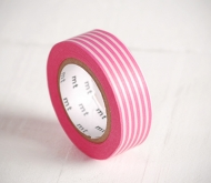 Washi tape rayé rose
