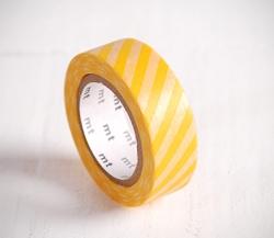 Washi tape avec rayures jaunes