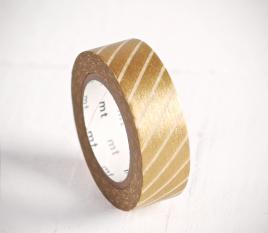 Washi tape lignes en doré et blanc