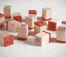 Kit de tampons avec chiffres