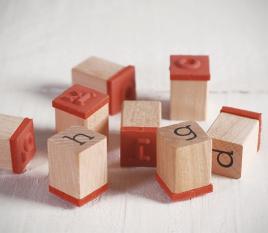 Kit de tampons alphabet