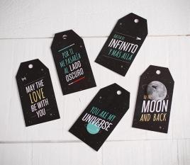"""Kit de 10 étiquettes cadeaux """"Universe"""""""