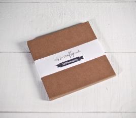 Papier cartonné kraft 16,5x16,5cm