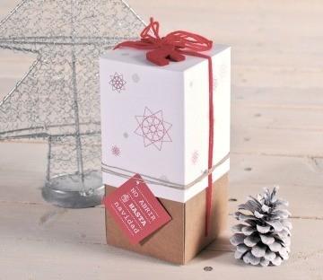 Boîte à Bouteilles Imprimée pour Noël.