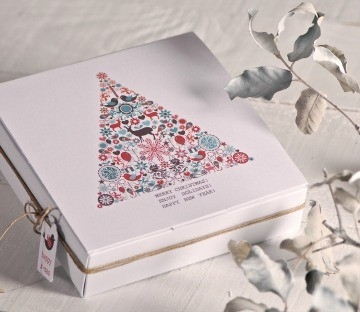 Boìtes imprimées pour événements de Noël
