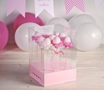 Boîtes transparentes à cake pops
