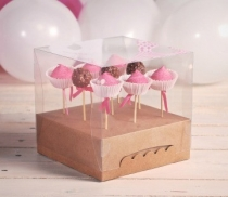 Boîte à cake pops en carton