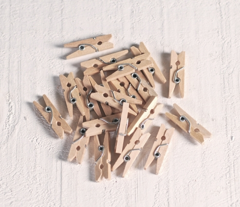 Pinces en bois mini