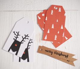 Kit d'étiquettes Rudolph