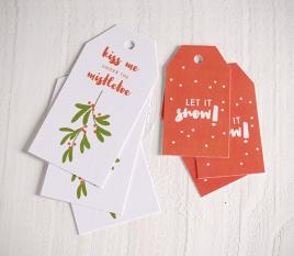 6 etiquetas de Navidad