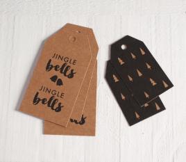 Étiquettes Jingle Bells pour cadeaux
