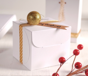 Caja Cuadrada para Navidad