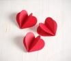 Cœur 3D en papier cartonné