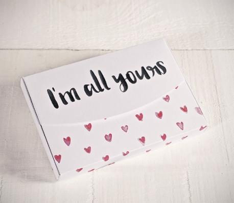 """Boîte imprimée de coeurs """"All yours"""""""