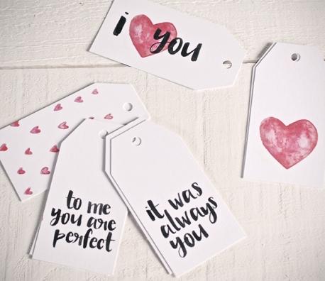 Kit d'étiquettes cadeaux Love