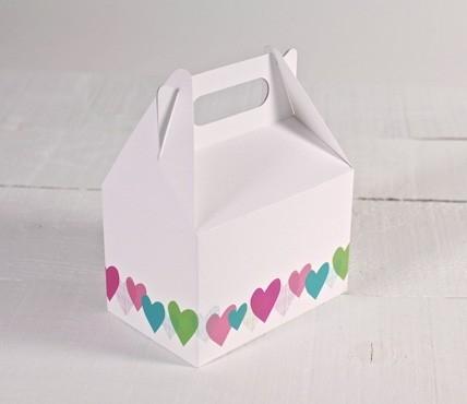 Boîtes imprimées coeurs