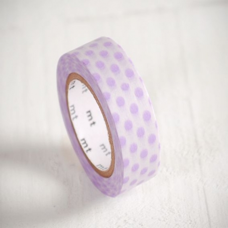 Washi tape à pois lilas