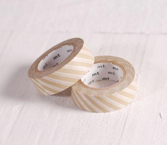 Washi tape rayures beige