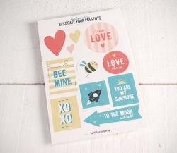 Kit adhésifs avec des messages LOVE
