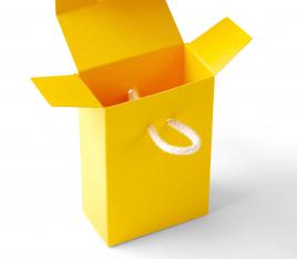 Boîte cadeau avec cordon