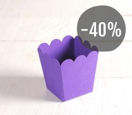 Boîte à popcorn en couleur lilas