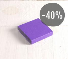 Petite boîte violette pour sucreries