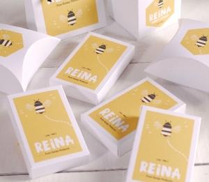 Boîte rectangulaire avec logo imprimé