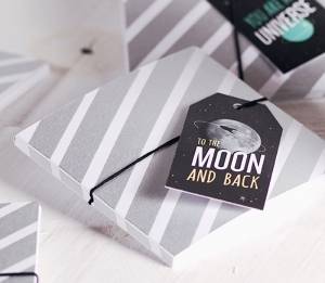 Boîte pour CD décoration galactique