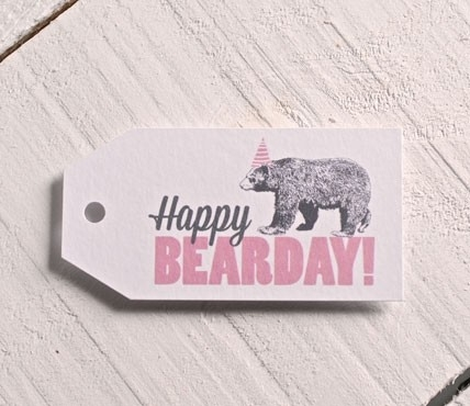 Étiquettes Happy BEARDAY