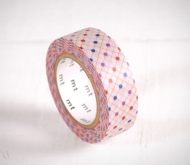 Washi tape à pois de couleurs