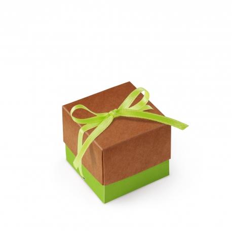Boîte en carton carrée avec couvercle