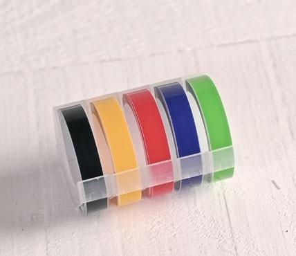 """Rubans étiqueteuse """"Dymo"""" couleurs primaires"""