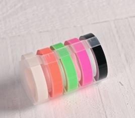 """Rubans étiqueteuse """"Dymo"""" couleurs fluor"""
